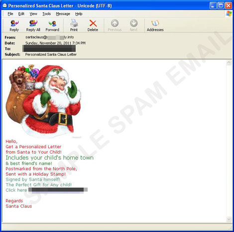 Personalized Letter from Santa Claus Scam - Threat Encyclopedia