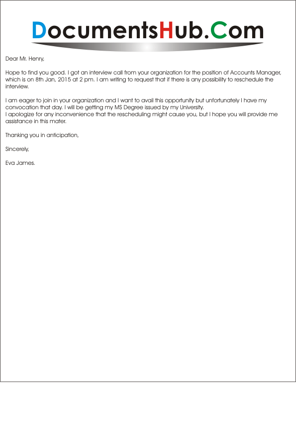 sample letter requesting interview