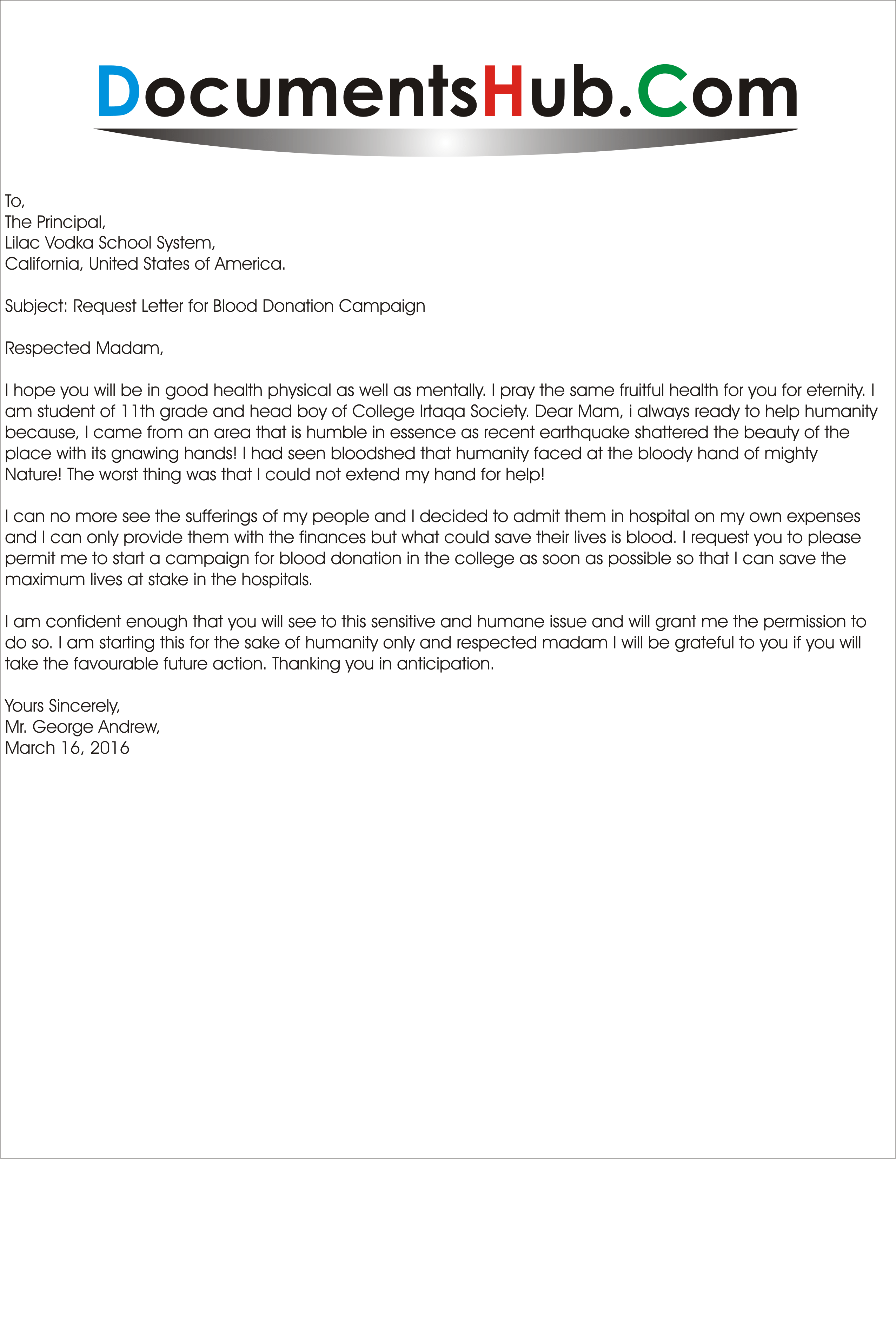 donation cover letters