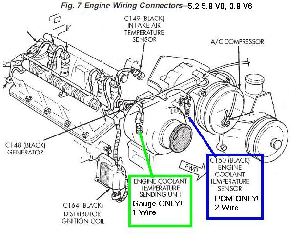 1990 dodge dakota 3.9 engine diagram