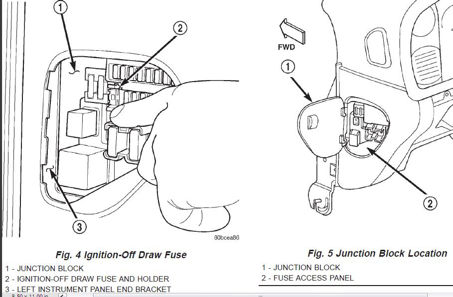 1998 dodge 1500 fuse diagram