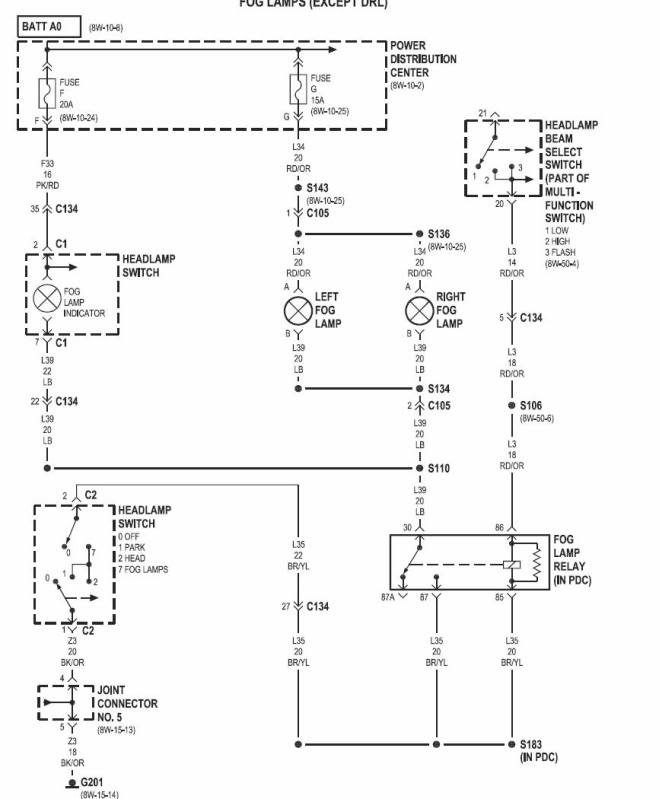 01 Mustang Fog Light Fuse Diagram Wiring Diagram