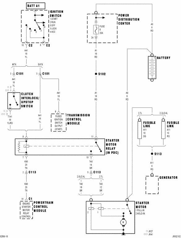 02 Dodge Stratus Fuse Box Wiring Diagram