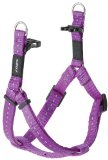 Rogz Reflective 5/8-Inch Snake Dog Step-in Harness, Small to Medium Adjustable, Purple