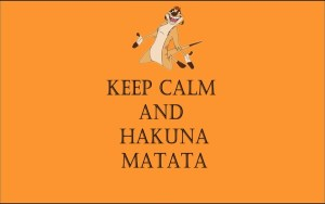 minimalistic orange quotes textures the lion king keep calm and hakuna matata_www.wall321.com_33