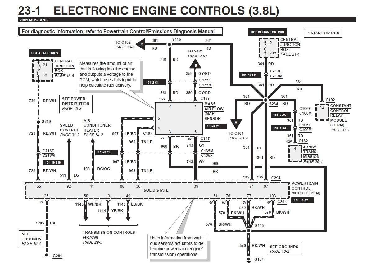 radio wiring diagram for 1990 mustang