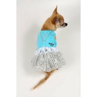 Sniffany & Co. Dog Dress with Heart Necklace