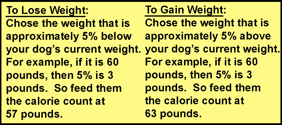 Calorie Chart by Weight - HEIRO for Dogs