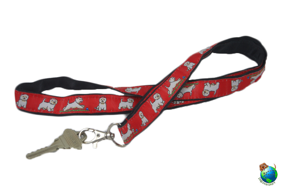Westie Lanyard Key Badge Holder