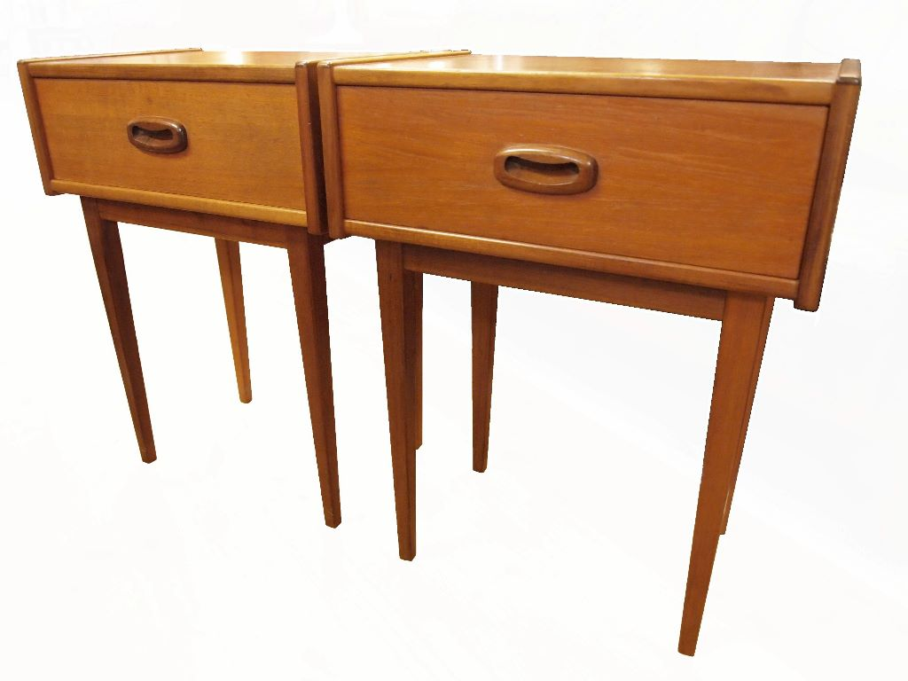 Bedsides Tables Teak Bedside Tables Sold Dogs Republic 20th Century