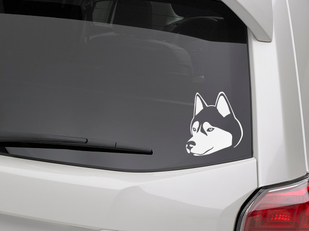 Husky dog decal