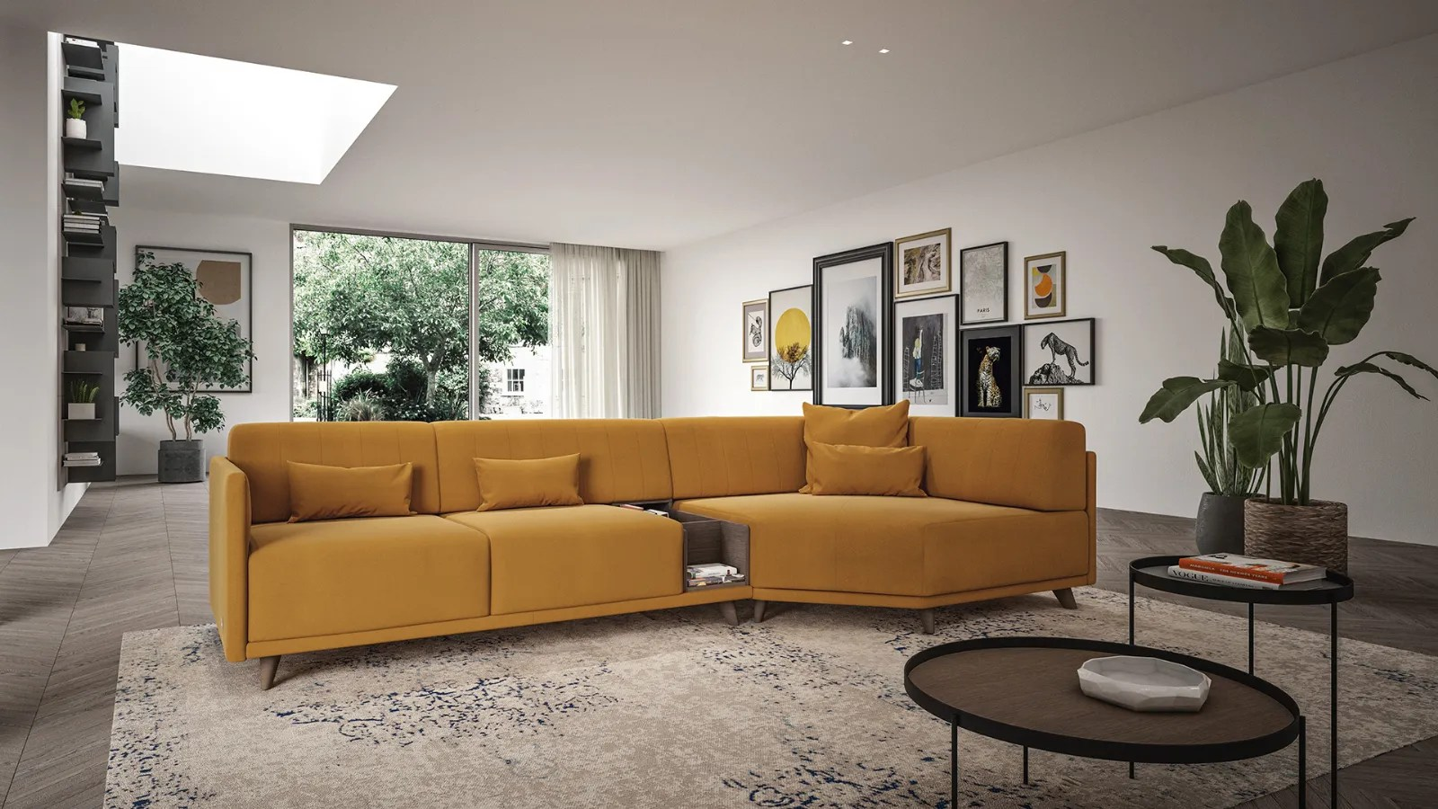Adrian Highly Customizable Modern Sofa