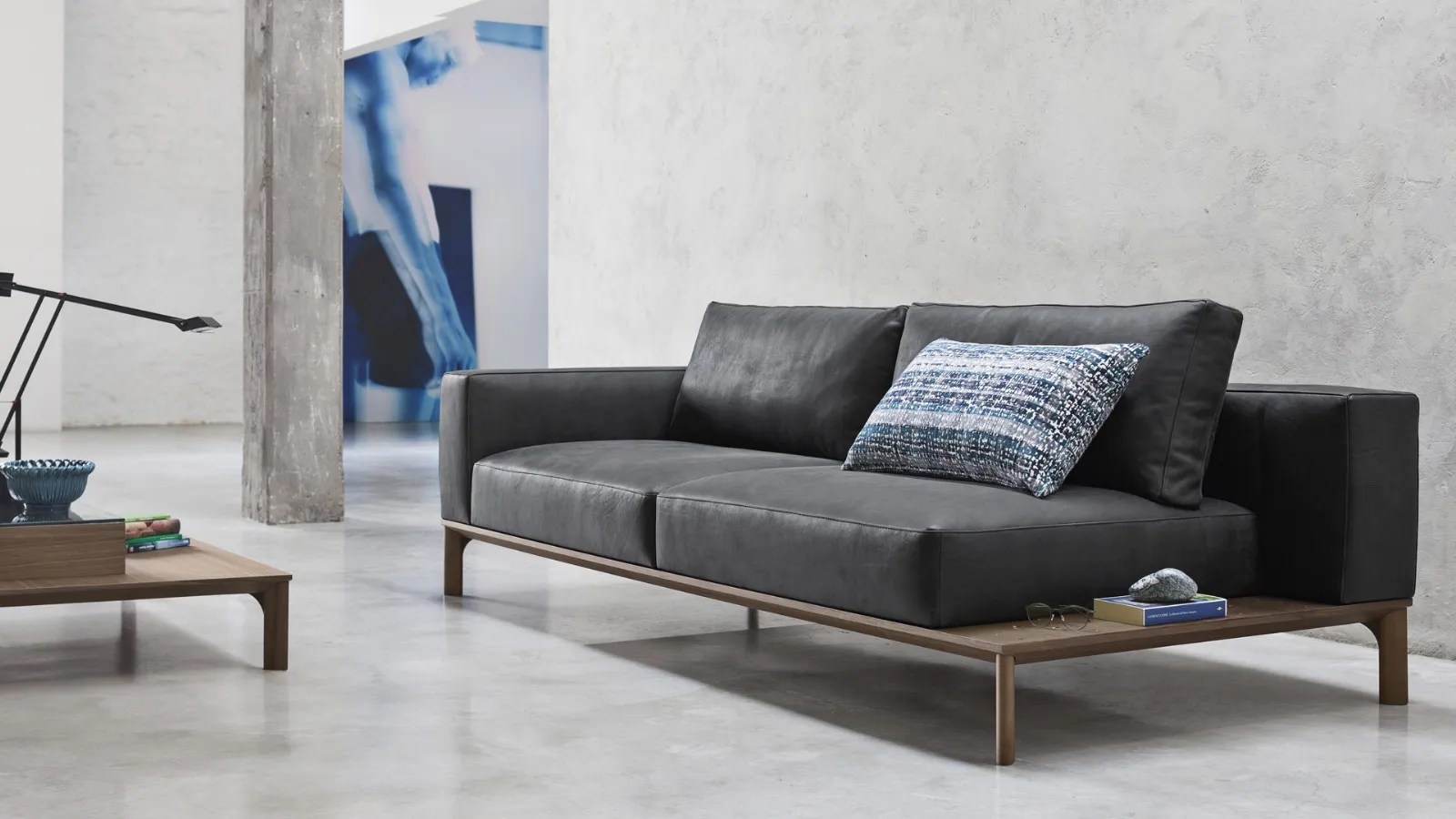 Design Sofa With Bookcase Leonard