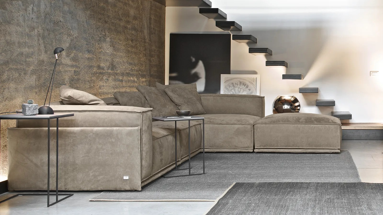 Roland Soft Sofa In Leather Or Fabric