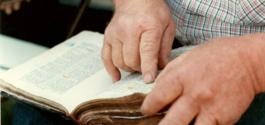 Daddy's hands. He loved the Word and carried it with him throughout his life.