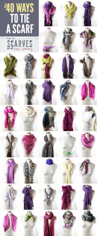 40 Ways to Wear a Scarf | Do It And How