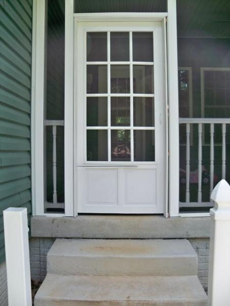 Screen Porch Doors Screened Porch Door...flimsy Vinyl Door, And Needs Door To