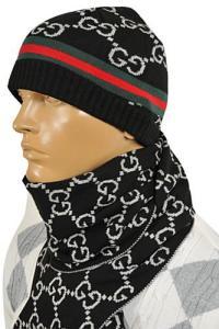 Mens Designer Clothes | GUCCI Mens Hat/Scarf Set #129