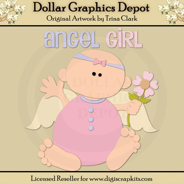 Angel Baby 1 - Cutting Files / Paper Piecing Patterns by Trina Clark