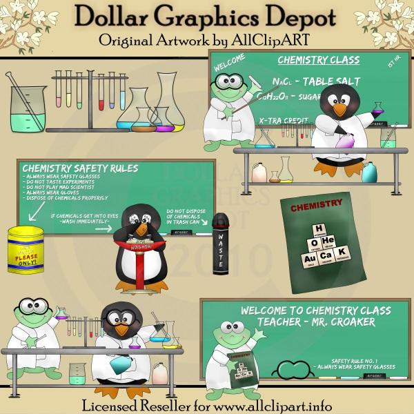 Chemistry Class - Clip Art - $100  Dollar Graphics Depot, Quality - chemistry safety