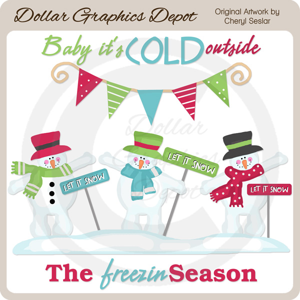 Baby It\u0027s Cold Outside - Clip Art - $100  Dollar Graphics Depot