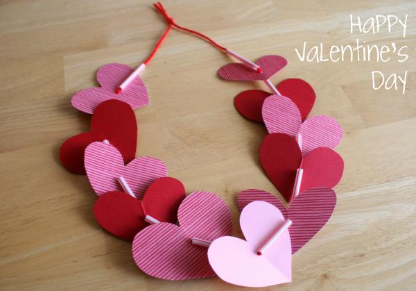 Make a Valentine Lei » Dollar Store Crafts