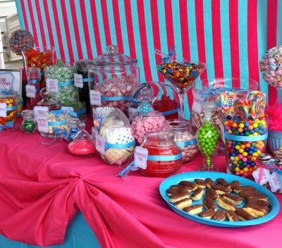 Party Candy Buffet Table Ideas
