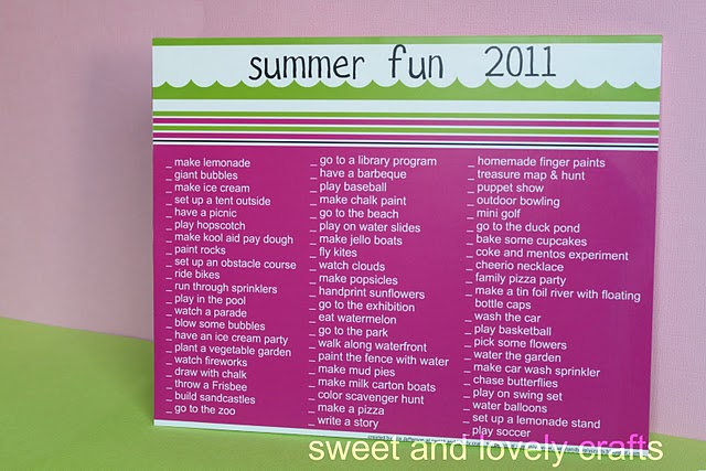 Print a Summer Fun Checklist » Dollar Store Crafts - summer vacation checklist