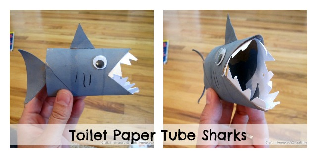 Make A Toilet Paper Tube Shark Puppet Dollar Store Crafts