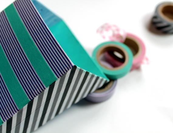 Tutorial Washi Tape Locker Accessories Dollar Store Crafts
