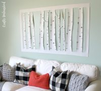 Make Aspen Tree Wall Art  Dollar Store Crafts