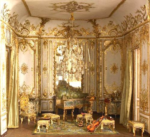 Rich Girl Wallpaper Baroque Interiors Dollhouse Decorating
