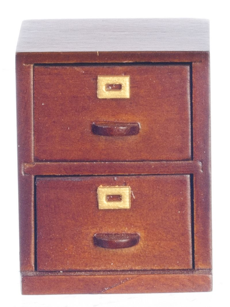 Small Filing Cabinet Details About Dollhouse Miniature Small Office Walnut Filing Cabinet