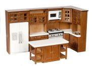 Dollhouse Miniature 1:12 Scale Complete 8 Piece Kitchen ...