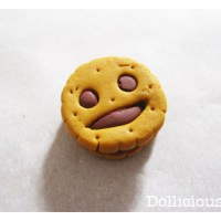 Tutorial : petit biscuit BN au chocolat en fimo