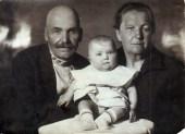 Михаил Павлович Овчинников (1869 г.р.) с женой Верой Федоровной (1875 г.р.) и внучкой Людмилой. 26 июня 1933 года