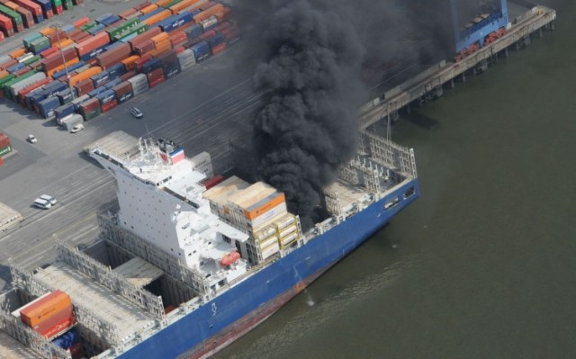 Fire on ICANN57 Hyderabad Bound Cargo Ship Affects IT Equipment