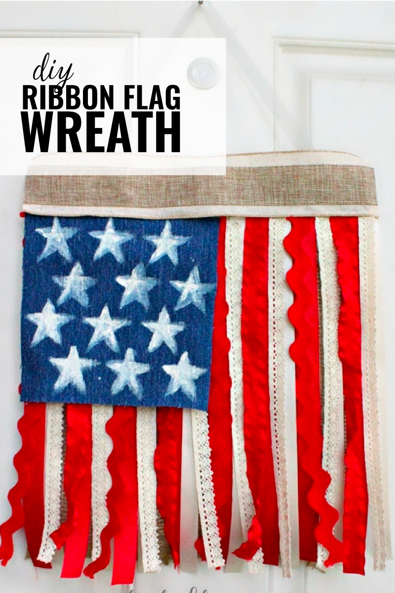 Diy Ribbon Flag Wreath For The 4th Of July Domestically Creative