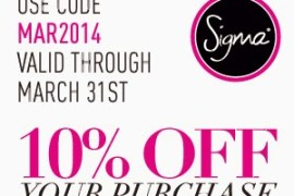 Sigma-March-Coupon-Code