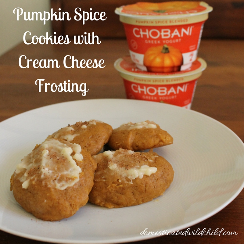 Pumpkin Spice Cookies withCream CheeseFrosting