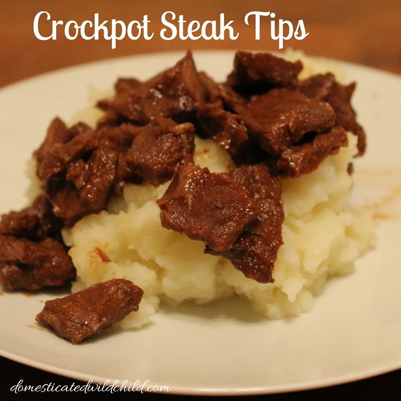 Crockpot Steak Tips
