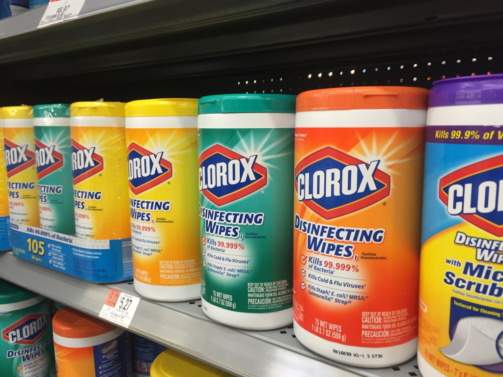 Clorox Wipes at Wal-Mart