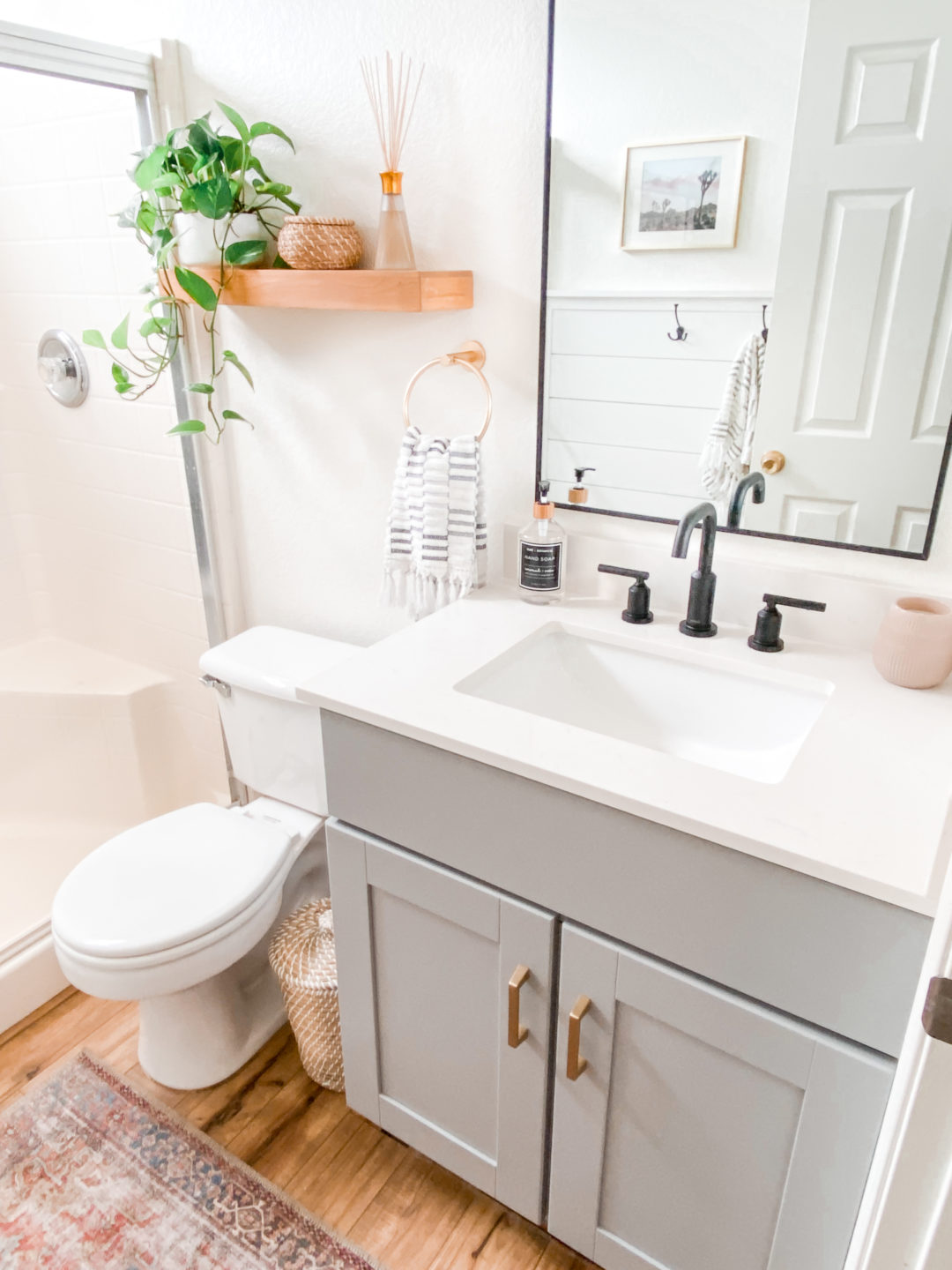 Small Bathroom Remodel Ideas Befor And After Domestic Blonde
