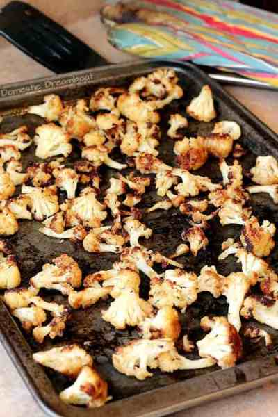 Roasted Cauliflower with Middle Eastern Spices