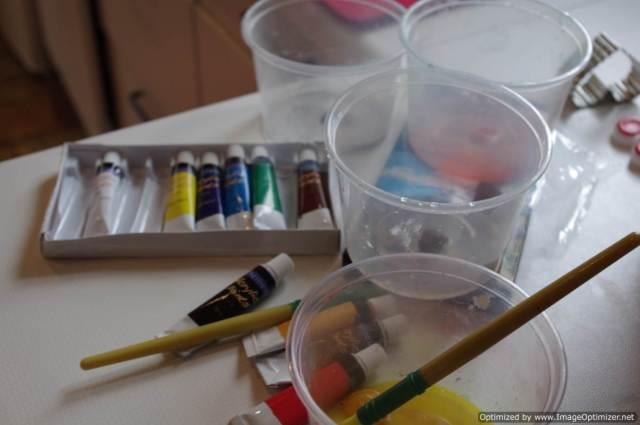 Splatter painting supplies