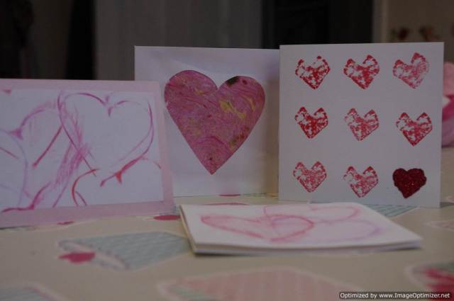 Home made Valentines Cards