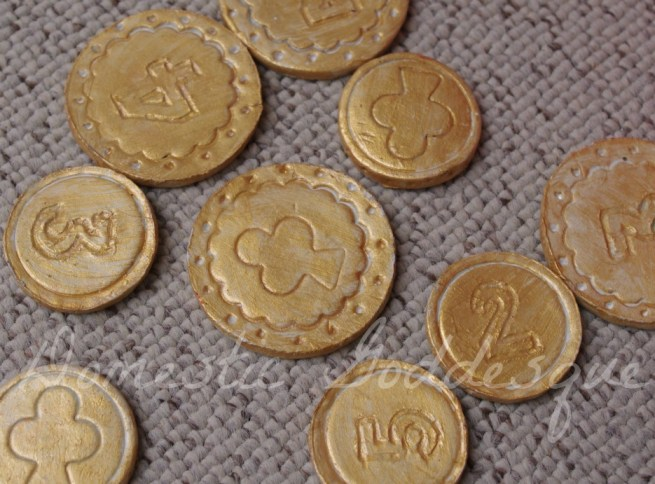 coins from air-dried clay