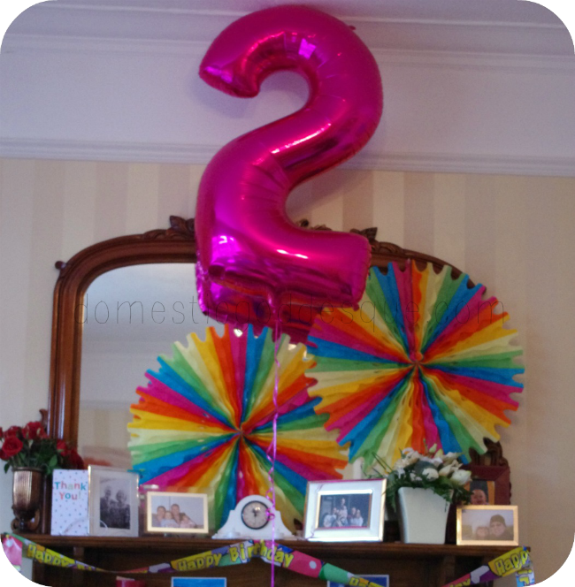 rainbow party mantel