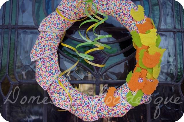 spring napkin wreath