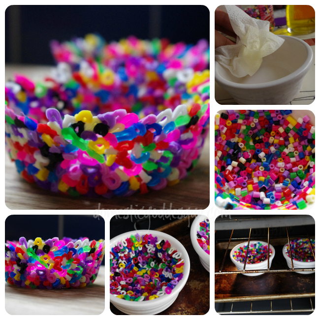 melting hama bead bowl